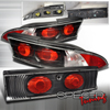 Spec-D Tuning 3Pc Tail Lights Black - 2G DSM 95-99